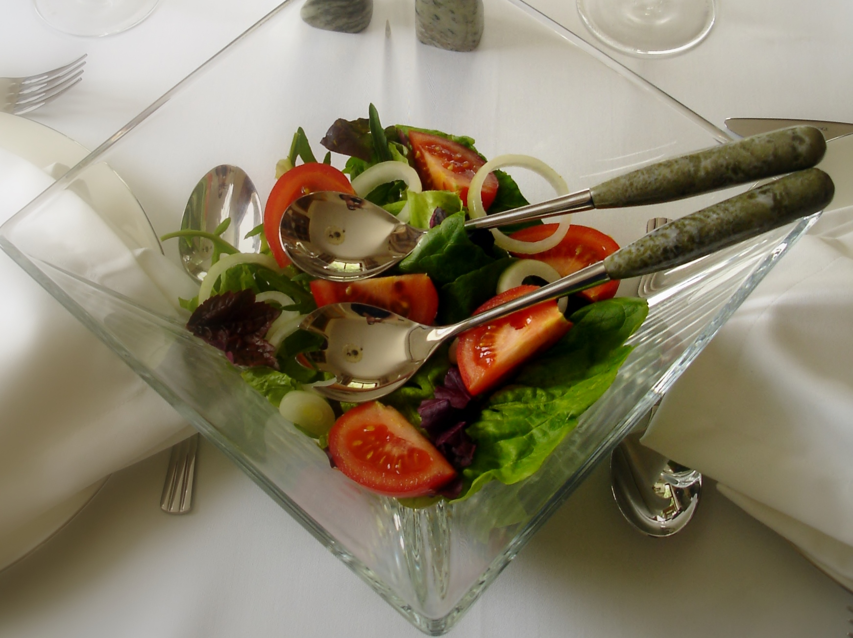 Connemara Marble Salad Server Set