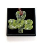 Connemara Marble Shamrock Christmas Ornament