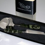 Connemara marble cheese Knife and slicer set