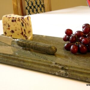 Handcrafted Connemara Marble Cheese Board a Knife Set